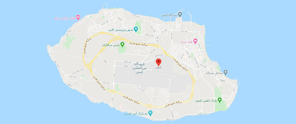 نقشه جزیره کیش